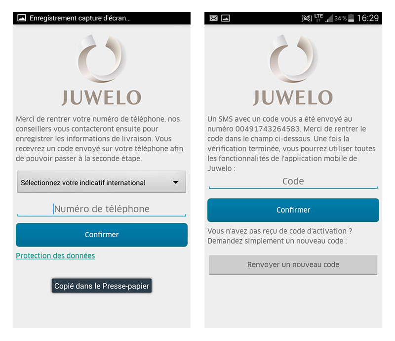 application mobile bijoux Juwelo