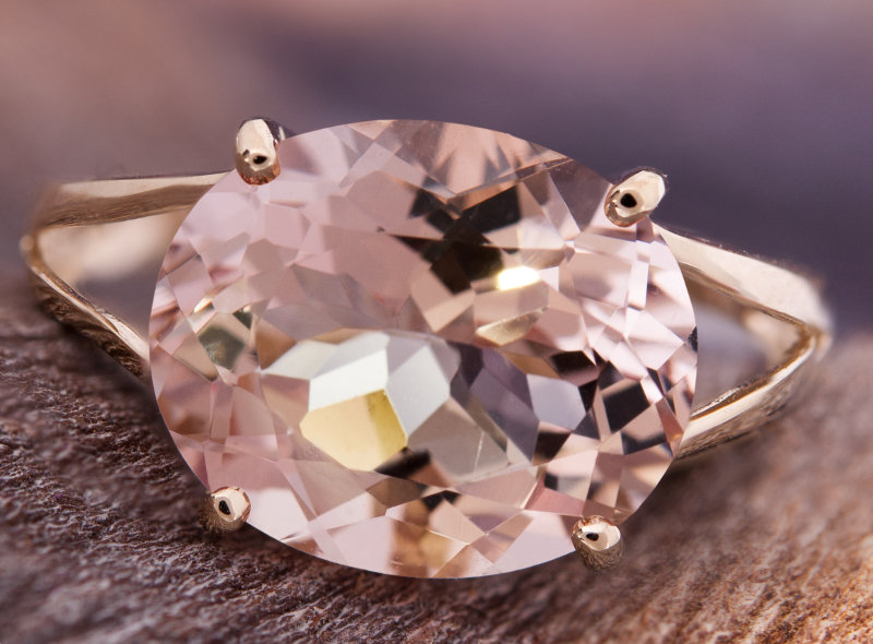 Bague en Morganite