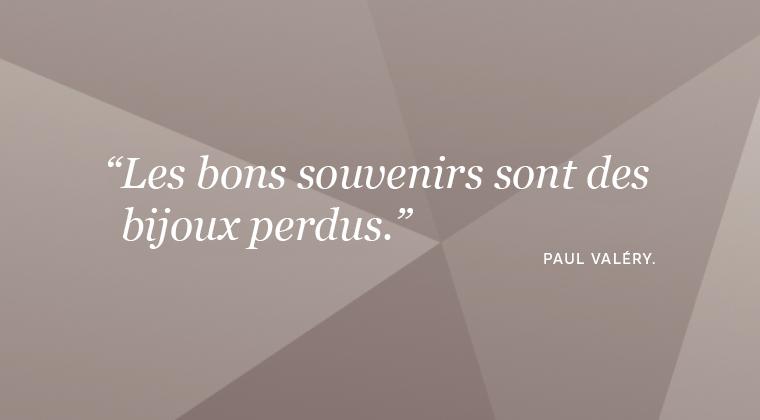 Citation sur les bijoux de Paul Valery