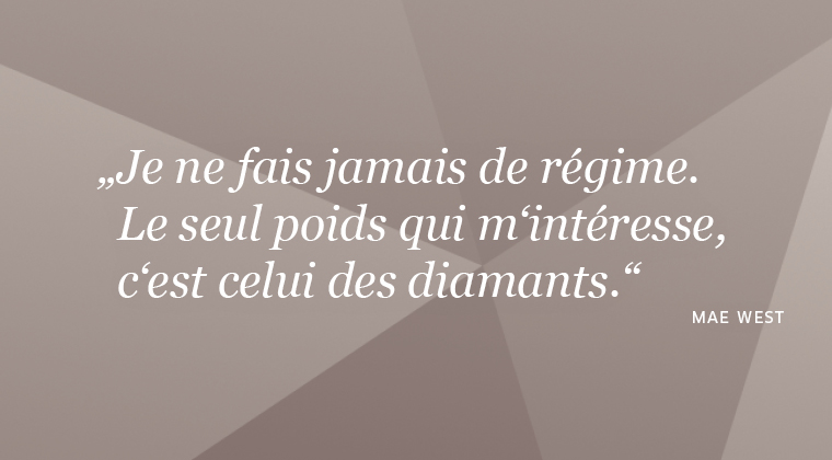 Citation sur le diamant